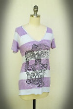 Abbey Dawn Avril Lavigne Size S/Mjr Mod Motorcycle Guitar Girl Top