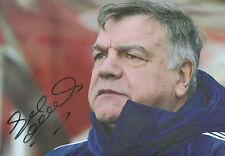 SAM ALLARDYCE Signed 12x8 Photo CRYSTAL PALACE Football Manager COA