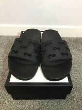Gucci GG Rubber Slide Sandal Black Size UK 9