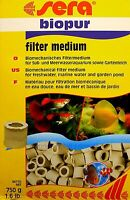 SERA BIOPUR biologischesfiltermedium 750g para DULCE Y AGUA DE MAR 7,32€/kg
