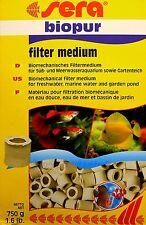 sera BIOPUR biologischesfiltermedium 750g pour doux et eau de mer 7,32€/ kg