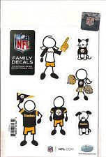 New NFL PITTSBURGH STEELERS Set of 6 Individual Small Family Car Auto Decals