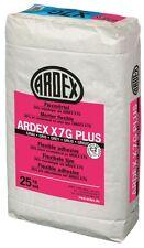 6x Ardex X7 G plus Flexmörtel Fliesenkl. 25kg -Wasserf.,Frostbeständig,Flexibel-