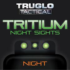 TRUGLO Brite-Site Tritium Handgun / Pistol Night Sights  Green S&W M&P Set