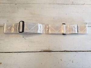 3M Fluorescent Reflective Waist Belt White Adjustable Work Jogger Cyclist Safety