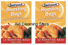 2 X 12 LARGE ROASTING BAGS MIRCOWAVE OVEN COOKING POULTRY CHICKEN MEAT FISH