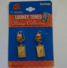 Lot Bugs Bunny Looney Tunes 32 Cent Stamp Collection Earrings X2  USPS Vintage