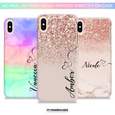 PERSONALISED NAME HARD HARD PLASTIC CASE COVER APPLE IPHONE 6 7 8 PLUS XR XS MAX