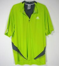 Adidas Clima 365 Cool Short Sleeve Men's Athletic wear L Large Solid Green 249