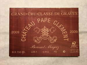 1 Rare Wine Wood Panel Château Pape Clement Vintage CRATE BOX SIDE 5/21 481