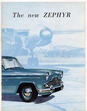 Ford Zephyr Mk2 1956 UK Market Sales Brochure Saloon Convertible