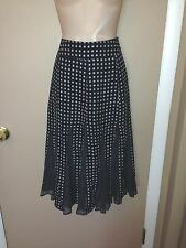 MAX MARA PURE SILK ITALY LADIES BLACK WHITE COLOR SKIRT SIZE 12.