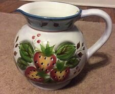 Heritage Mint 3 Qt. BLACK FOREST FRUITS PITCHER Glazed Ceramic Pottery New