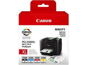 4-Multipack PGI-2500XL CANON MB-5050 -5350  9254B004 1x70,9ml 3x19,3ml iB4050