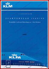 ANNUAL REPORT - KLM ROYAL DUTCH AIRLINES 1989-1990 - DUTCH