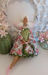 Herbst-Engel+Kranz Tilda Dekoration Puppe Shabby Chic Landhaus Vintage