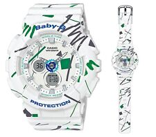 Casio Baby-G * BA120SC-7A Graffiti Design White Anadigi Watch COD PayPal