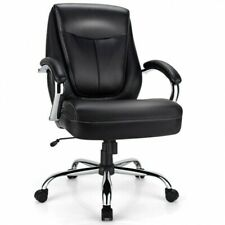 Costway 500lbs High Back Big Amp Tall Office Chair Adjustable Leather Task Chair