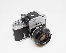 Nikon F Photomic Finder and 50mm Nikkor-S 50mm 1.4 Case Manual Strap