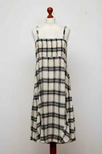 The MASAI Clothing Company Ivory Checked Sleeveless Lagenlook Dress Size L