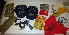 Lot Of Vintage Boy Scout & Cub Scout Items, Hats, Books, Belts, Scarfs