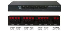 6-Way Stereo Speaker Selector Amplifier Switch Selector
