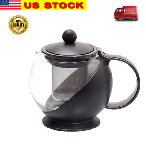 Glass Tea Pot Coffee Pot with Removable Stainless Steel Filter,750 ml (3 Cups)