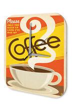 Publicité Horloge Murale Cuisine  tasse de café Imprimee Acrylglas