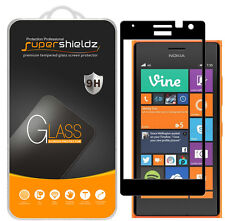 2X Supershieldz Nokia Lumia 735 Full Cover Tempered Glass Screen Protector