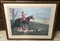 Vernon Wooten Hunting Season Middleburg VA 473/2000 Pencil Signed Framed 39x33