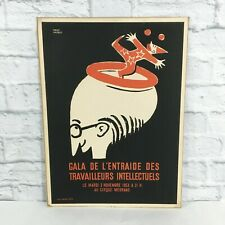 Vintage original 1953 Pierre Lacroix French Poster intellectual workers