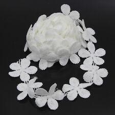 3 Yards Spitzen Weiß Borten Hochzeit Applikation Verzierung nähen Braut Kleidung