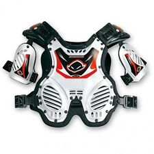 UFO Shockwave Protector Youth Body Armour Motocross Kids Roost Tabard Whi 8-12yr