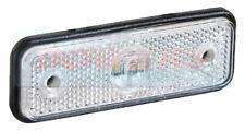 12V 24V SLIMLINE FLUSH FIT WHITE LED FRONT MARKER LAMP LIGHT TRUCK LORRY TRAILER