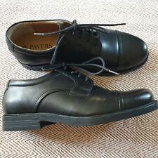 Mens Boys Black Leather Pavers Shoes Lace Up Smart Formal Size Uk 6 Euro 40