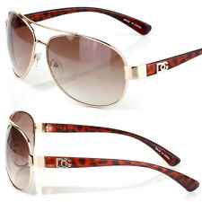 Womens Fashion Designer Pilot Aviator Sunglasses Shades Round Demi Brown Wrap