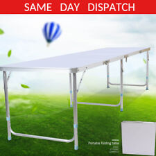 6ft Folding Trestle Table Picnic Camping Bbq Banquet Party Garden Heavy Duty