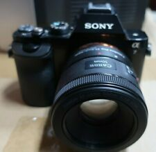 Sony Alpha 7 A7 Digital Camera body + Canon 50mm EF Lens NO CHARGER (H39)