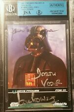 David Dave Prowse James Earl Jones 2009 Darth Vader AUTO Signed Star Wars