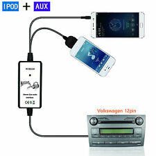 Car Audio MP3 Interface Ipod AUX Adapter For 12Pin VW Audi Skoda Seat Quadlock