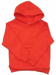 New Plain Pullover Sweatshirt Boys Girls Children Kids Hoodie All Colors S~2XL