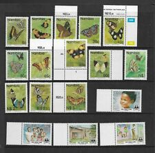 2 scans-Collection of UNMOUNTED MINT Namibia stamps.