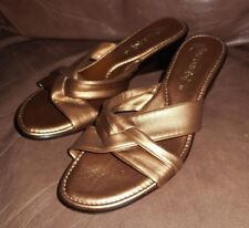 Damiani's By Italian Slip on Comfort Wedge Sandal Double Strap Shoes NEW