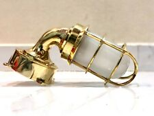 NAUTICAL VINTAGE STYLE SOLID SWAN HALLWAY WALL LIGHT FIXTURE JUNCTION BOX BRASS