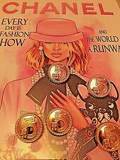 5xDesign Knöpfe Chanel 2,5cm Jacke Mantel Kostüm Kleid Hose Logo Gold No 5 🎶❤️