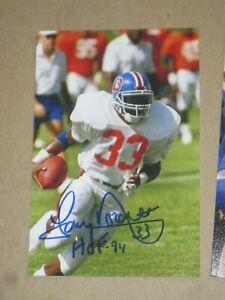 Denver Broncos TONY DORSETT Signed 4x6 Photo NFL HOF AUTOGRAPH 1