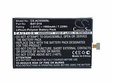Cameron Sino CS-ACS550SL 1900mAh Battery for Acer Liquid Jade S, Liquid Jade Z