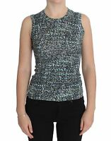 NWT $800 DOLCE & GABBANA Vest Sleeveless Blue Wool Sweater Pullover IT36/ US2/XS