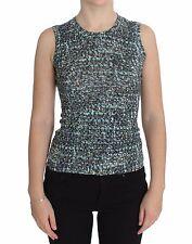 Dolce&Gabbana Women Blue Wool Sweater Sleeveless Pullover It36/xs