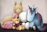 Best Friends Forever by Doug Hyde. Signed, Numbered, MOUNTED ONLY In Stock.